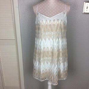 Lilly Pulitzer Dusk Strappy Lace Slip Dress Size L